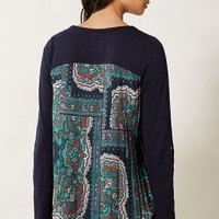 Accordion Tee by Anthropologie Blue Motif Xl Apparel
