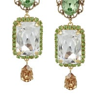Dolce & Gabbana - Gold-plated Swarovski crystal clip earrings