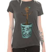 Marvel Guardians Of The Galaxy I Am Groot Girls T-Shirt