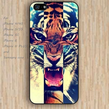 iPhone 6 case cross tiger case colorful rose iphone case,ipod case,samsung galaxy case available plastic rubber case waterproof B094