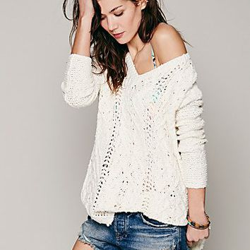 Free People Womens Cross My Heart Pullover -