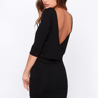 LULUS Exclusive All or Nothing Black Backless Dress
