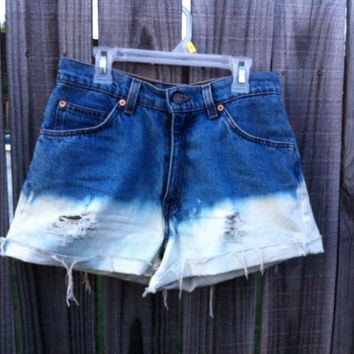 Distressed high waisted shorts  by KayleesKrafts15 on Etsy