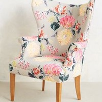 Lotus Blossom Wingback Chair by Anthropologie Multi One Size Furniture