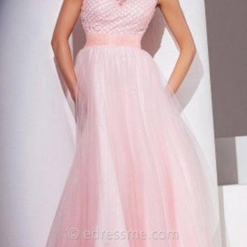 Crisscross Tulle Prom Gown by Tony Bowls Le Gala