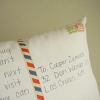Personalize a Postcard Pillow by OIive on Etsy