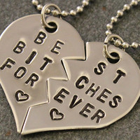 Best Bitches Forever Necklaces  Best Friend by SometimesTwice