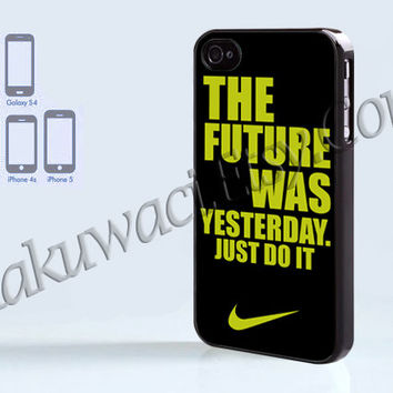 The Future was yesterday - iPhone 4 case - iPhone 4S case - Samsung Galaxy S3/S4 - iPhone case - Hard Plastic - Case Soft Rubber Case