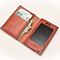 leather iphone wallet case handstitched by by pageleatherworks