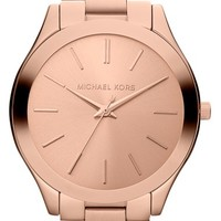 Women's Michael Kors 'Slim Runway' Bracelet Watch, 42mm - Rosegold