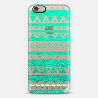 TEAL TRIBAL - CRYSTAL CLEAR PHONE CASE iPhone 6 case by Nika Martinez   Casetify