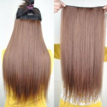 "8 Color 23"" Straight Full Head Clip in Hair Extensions Wwii101 (Blonde 613)"