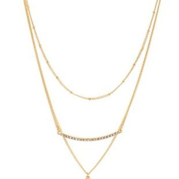 Gold Delicate Layering Necklaces - 3 Pack by Charlotte Russe