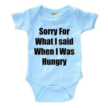 Sorry for what I said when I was Hungry Baby Onesuit