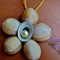 Seashell Home Decor Wall Hanging or by MermaidTearsDesigns
