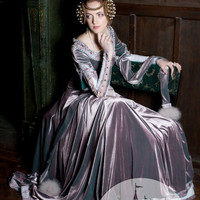 """Custom Size Renaissance Dress """"Lady Rowena"""" exclusive velvet embroidered medieval gown"""