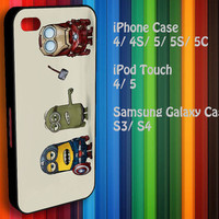 Samsung Galaxy S3/ S4 case, iPhone 4/4S / 5/ 5s/ 5c case, iPod Touch 4 / 5 case : Avengers Minions Cartoon