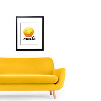 INSTANT DOWNLOAD - smile decor photography yellow decor home decor office kids decor Nursery Wall decor print instant download gift ideas