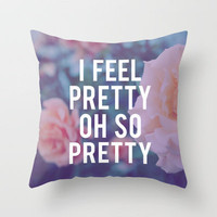 Oh, So Pretty! Throw Pillow by Leah Flores | Society6