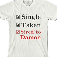 White T-Shirt | Fun Vampire Diaries Fandom Shirts