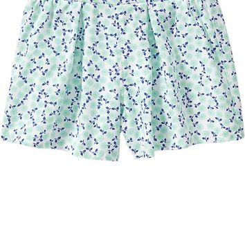 Floral Poplin Shorts for Baby