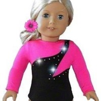 """NEW HIGH QUALITY HOT PINK Gymnastics Dance Cheer LEOTARD - fits American Girl 18"""" Doll Clothes"""