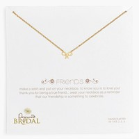 Women's Dogeared 'Friends - Bow' Boxed Pendant Necklace (Nordstrom Exclusive)
