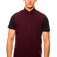 Shades of Grey Raw Edge Maroon Shirt