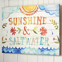 Sunshine + Saltwater Watercolor Art