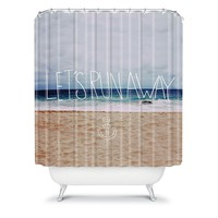 DENY Designs Leah Flores ''Let's Run Away'' III Fabric Shower Curtain