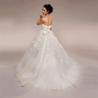 Beautiful White Lace Couture Strapless Bridal Wedding Ball Gowns Dresses SKU-118029