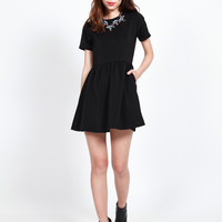 RYLEE Ruched Babydoll Dress V2 (Black)