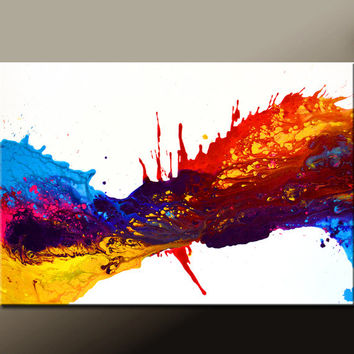 Abstract Canvas Art Painting 36x24 Original Modern Contemporary Paintings by Destiny Womack - dWo - Rhapsody