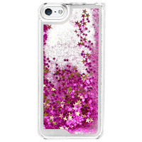 GLITTER WATERFALL IPHONE CASE PINK