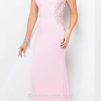 Floral Jersey Prom Gown by Tony Bowls Paris
