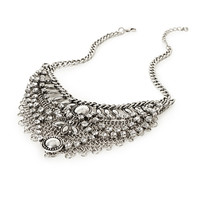 FOREVER 21 Layered Statement Necklace Burn.S/Clear One