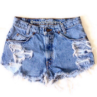 The Venice. ANY SIZE Vintage High Waisted Shorts
