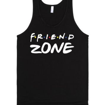Friend Zone (dark)-Unisex Black Tank