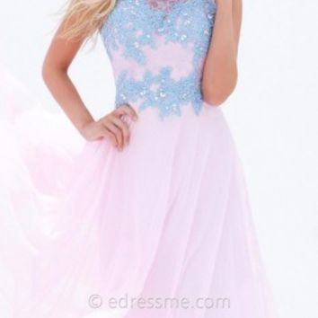 Lace Portrait Back Prom Gown by Tony Bowls Le Gala