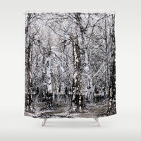 Be still! Be still! Shower Curtain by Anipani