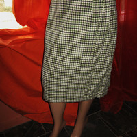 SALE Amazing Vintage TALBOTS Skirt Houndstooth  Wool Blends Lined Size 12 Made in USA