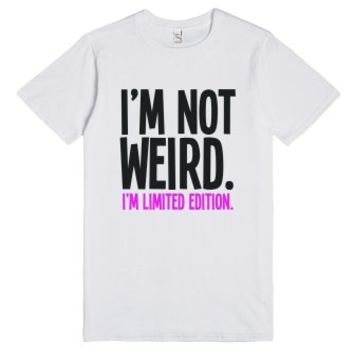 Weird-Unisex White T-Shirt