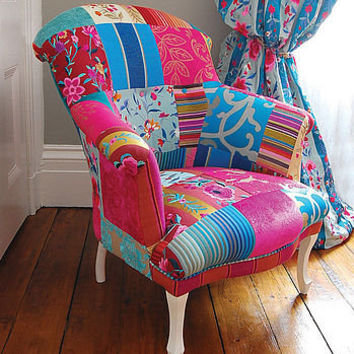 mandalay patchwork chair by couch gb | notonthehighstreet.com