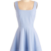 ModCloth Pastel Short Length Sleeveless A-line Met with Splendor Dress in Periwinkle