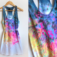 Splash Dyed Hand PAINTED Scoop Neck Racerback by twostringjane
