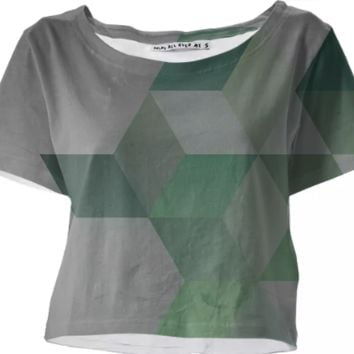 Green & Gray crop top created by duckyb | Print All Over Me
