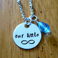 """The Fault in our Stars Inspired """"Our little infinity"""" Necklace. Hazel and Augustus Infinity symbol. Silver colored with a Swarovski crystal."""