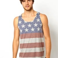 ASOS Vest With All Over Stars And Stripes Print