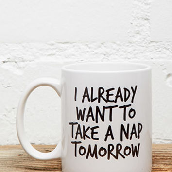 Tickled Teal Want To Nap Mug