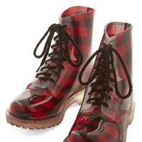 ModCloth Urban Lost in Spot Boot in Plaid